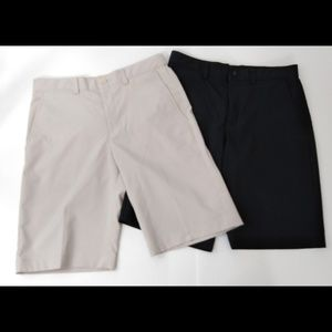 Boys PGA Tour Flat Front Shorts 2 pairs Size 10/12